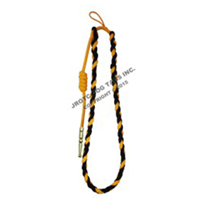Black/Gold cord with gold (brass) tip - Lanyard Fourragere with Tip (Button Loop) (Each)