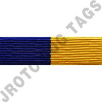 Royal Blue and Gold Ribbon Optional Color Awards (Each)