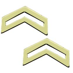 CPL Bright Army JROTC / ROTC Rank (Pair)