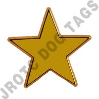 Gold Honor Unit Star JROTC (Each)