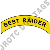 Best Raider (Yellow/Black Text) Arc Pins (Each)