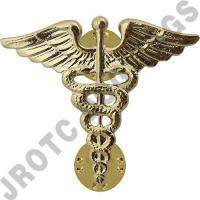 Medical Army Officer Collar Device (Pair)