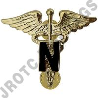 Nurse Army Officer Collar Device (Pair)