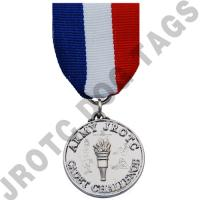 Cadet Command Challenge Chest Medal Silver With Drape