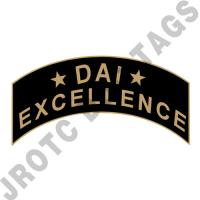 *DAI* Excellence (Black) Arc Pin